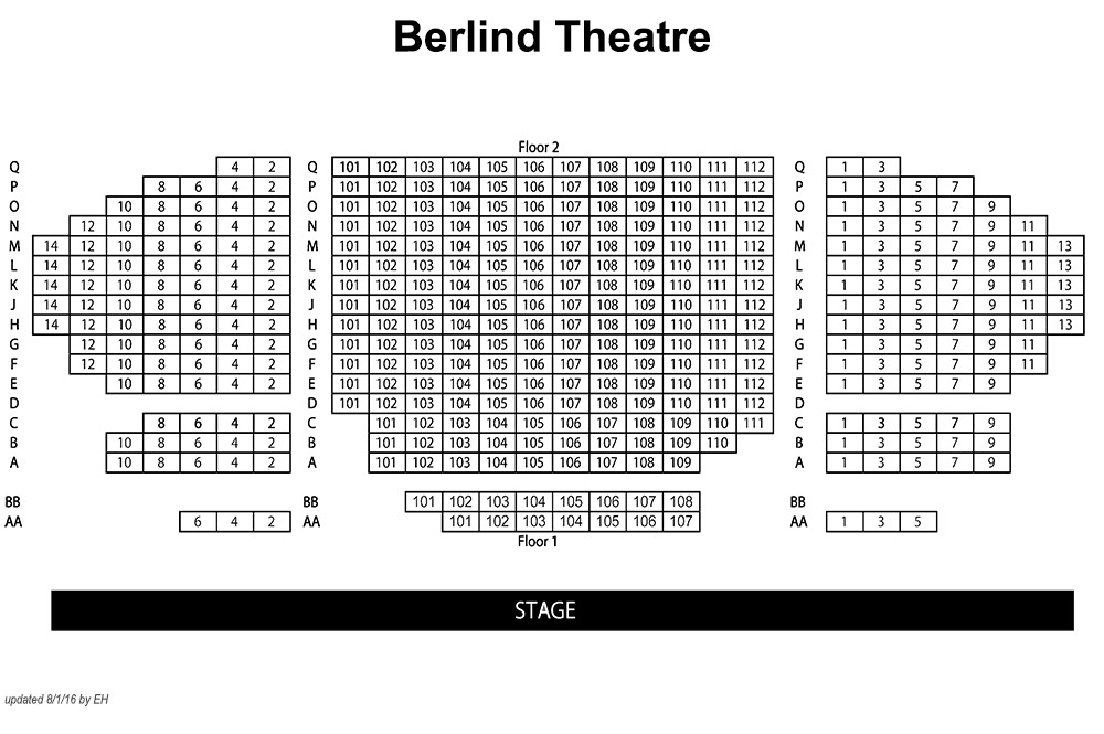 Berlind Seating Chart | McCarter Theatre