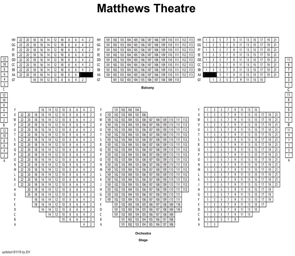 Matthews Theater Seating Chart